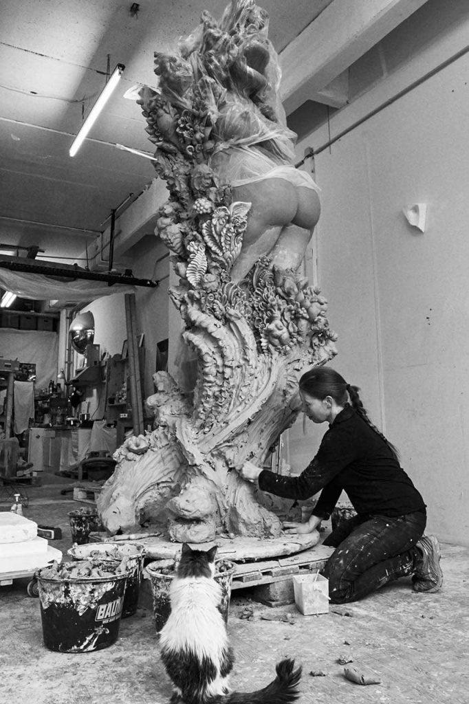Miriam Lenk im Atelier